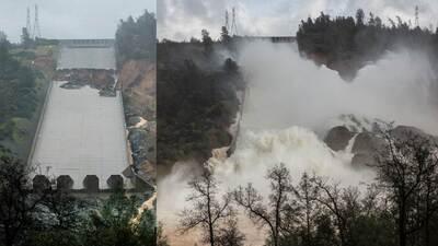 Fotos: Evacúan a miles en el norte de California por daños en la presa de Oroville