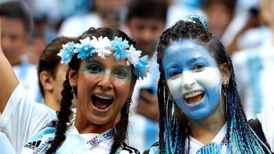 Las mujeres argentinas en el duelo contra Nigeria en el Mundial de Rusia 2018