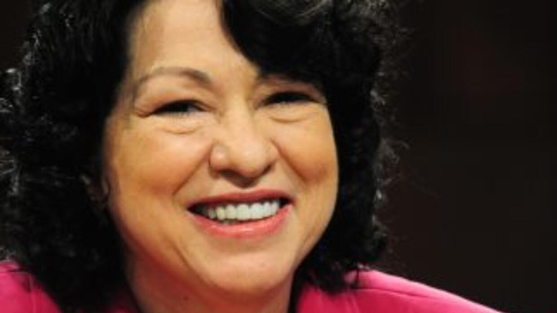 La jueza hispana Sonia Sotomayor.
