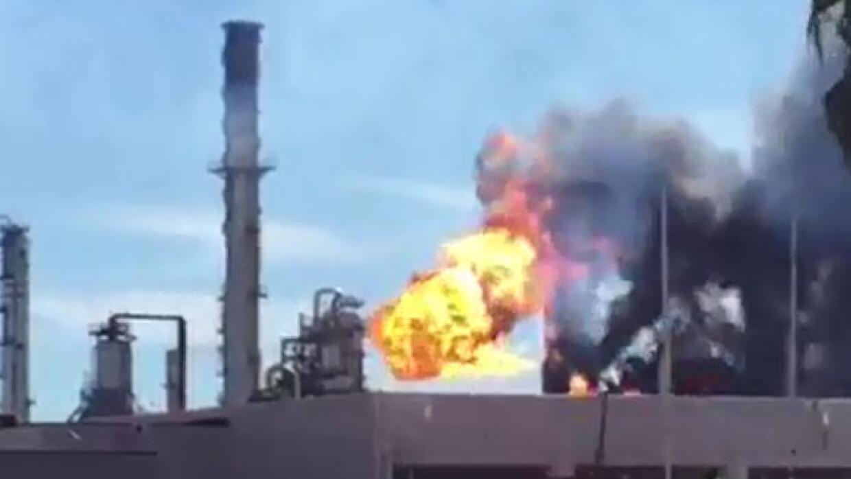 Incendio en Pemex