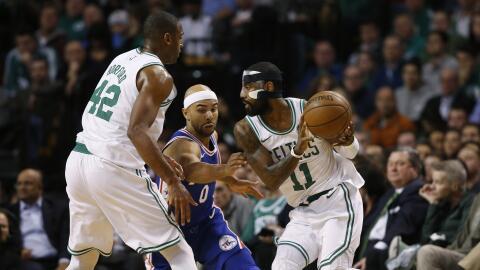 Kyrie y sus Celtics esta noche contra los 76ers del novato Simmons.