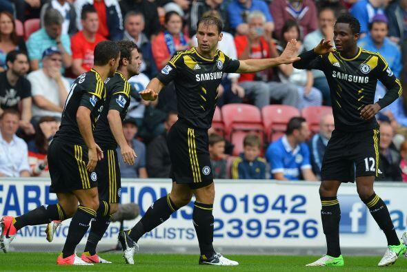 Y finalmente su esfuerzo cayó con un gol ante Wigan.