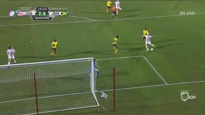 Rapinoe aprovechó su velocidad y ya pone el 2-0 ante Jamaica
