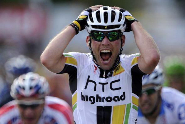 El británico Mark Cavendish del equipo HTC ganó la séptima etapa del Tou...