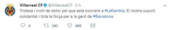 El mundo del deporte se solidariza con las víctimas de Barcelona BCN18.JPG