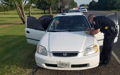 Agentes de la Policía de Corsicana, Texas.