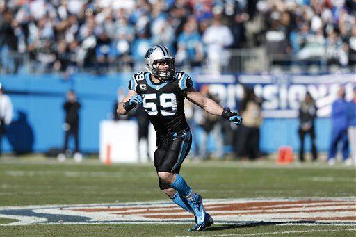 Luke Kuechly, apoyador interior de los Carolina Panthers (AP-NFL)