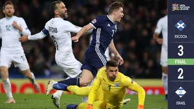 Escocia derrota a Israel y asciende a la Liga B en la Nations League
