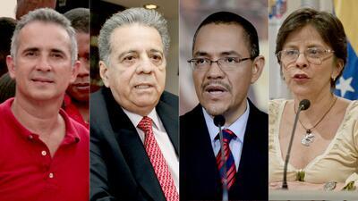 Cuatro de los nuevos sancionados: Freddy Bernal, Isaías Rodr&iacu...