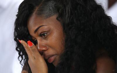 La viuda del sargento La David Jonhson, Myeshia Johnson.
