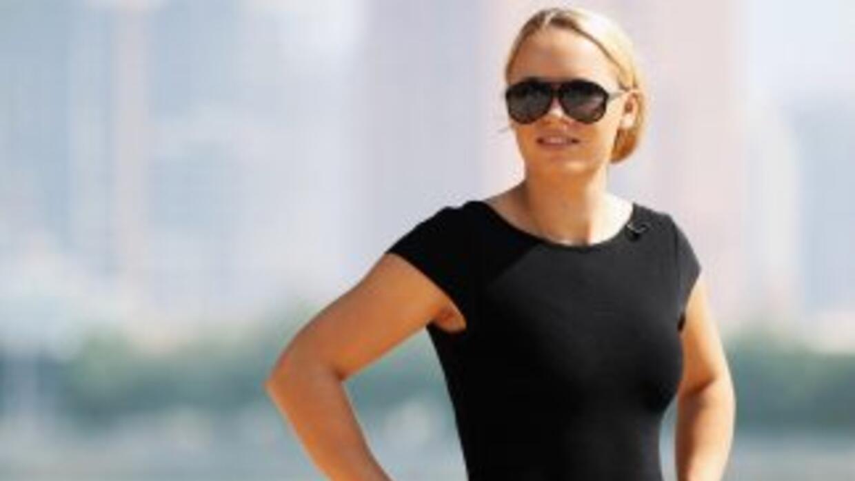 Caroline Wozniacki dando un paseo por Doha, previo a sus partidos en el...