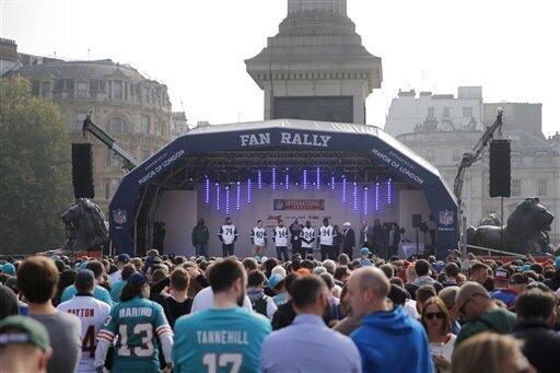 Londres recibió el primero de tres partidos NFL que tendrán, en donde lo...