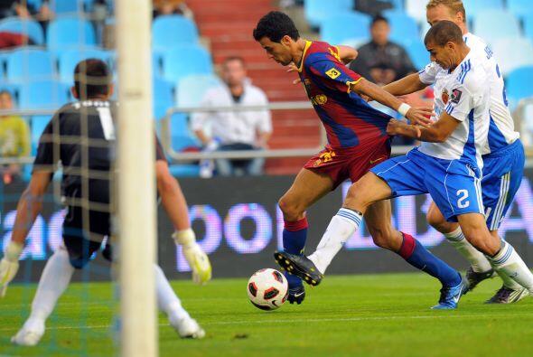 Pedro tuvo una chance clara pero no pudo transformarla en gol.