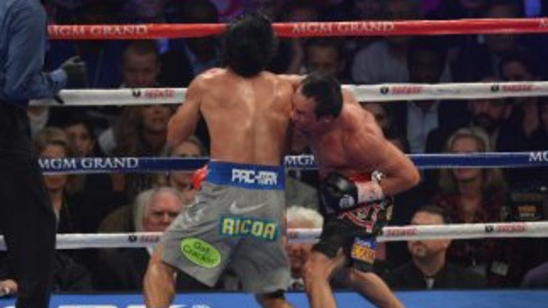 Márquez entrenó el golpe con el que noqueó a Pacquiao en el gimasio.