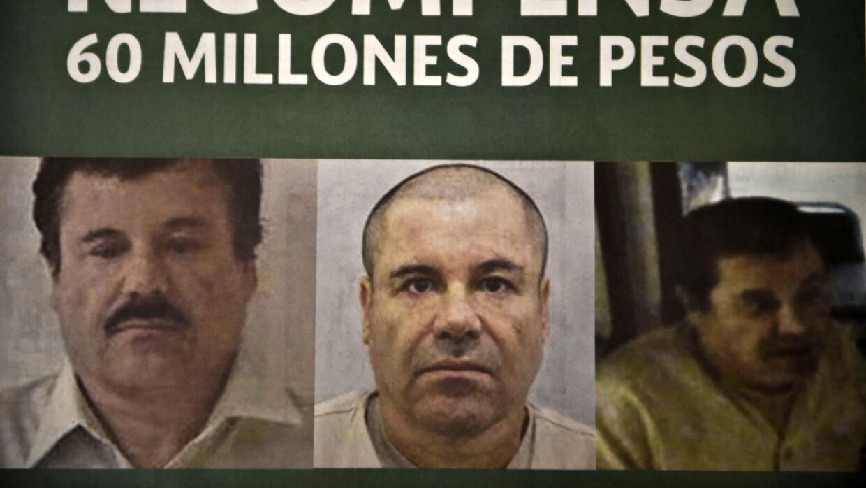 Cartel que pide recompensa por el Chapo.
