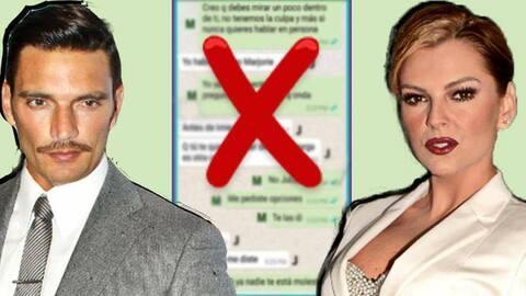 Whatsapp Marjorie de Sousa y Julián Gil