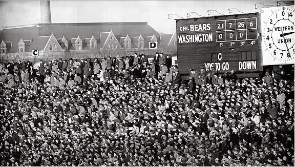 Así se registraba la victoria dentro del estadio, con los molestos afici...