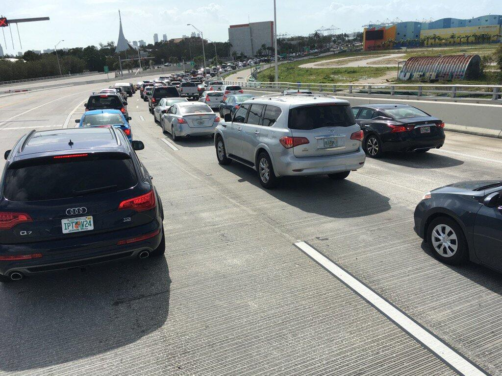 In photos: Getting home after Hurricane Irma traffic after Irma.jpg