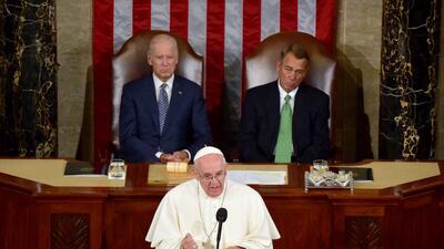 Discurso completo del papa Francisco ante el Congreso de Estados Unidos