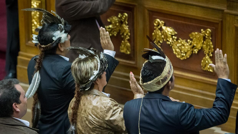 Los tres asambleístas opositores de Amazonas juraron sus cargos el miérc...