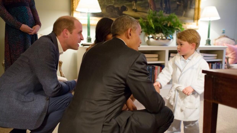 El príncipe con el presidente Obama