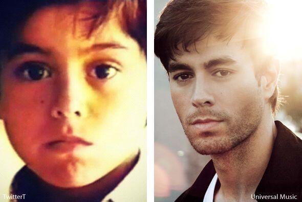 Otro de los galanes con bella mirada desde pequeño es Enrique Iglesias,...