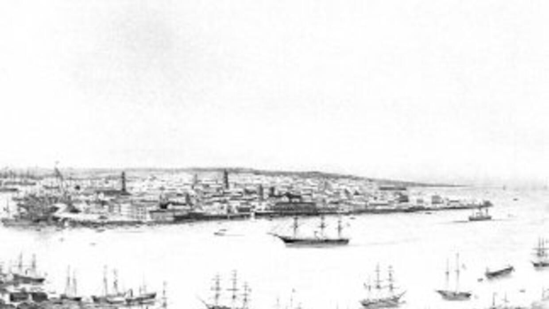 Puerto de la Habana en el siglo XIX. Imagen cortesía de Richard Roselló.