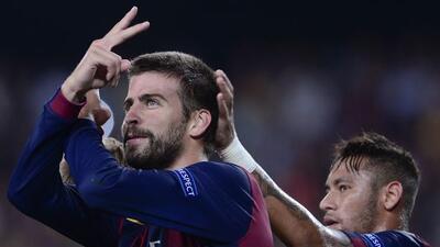 El defensa central de los catalenes anotó el único gol del partido.