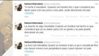 Los últimos tuits de Nelson Mandela.
