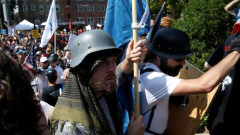 White supremacists in Charlottesville, Virginia.