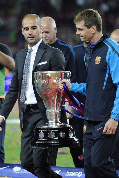La temporada siguiente, la mejor de la historia del Barcelona, Guardiola...