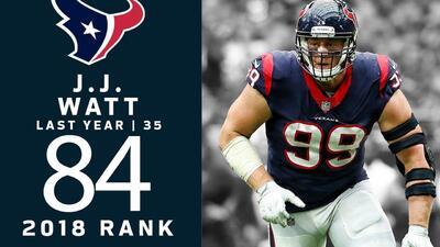 #84 J. J. Watt (DE, Texans) | Top 100 Jugadores NFL 2018