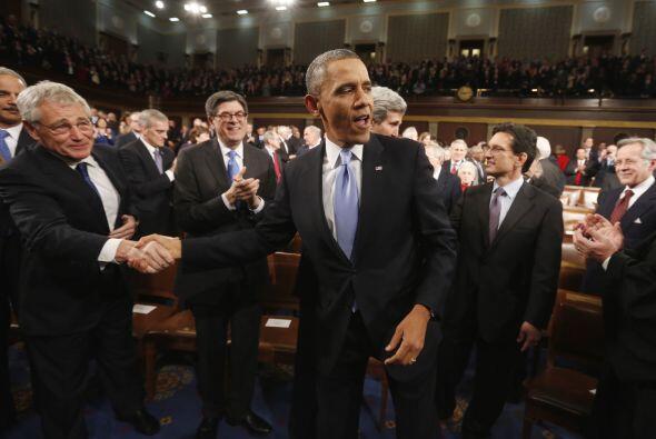 Aunque Obama no se refirió a la obtención de la ciudadanía para los inmi...