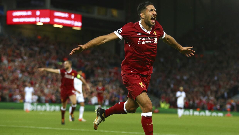 Emre Can convirtió un doblete para los Reds esta noche en Anfield.