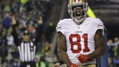 Anquan Boldin quiere quedarse en los 49ers (AP-NFL).