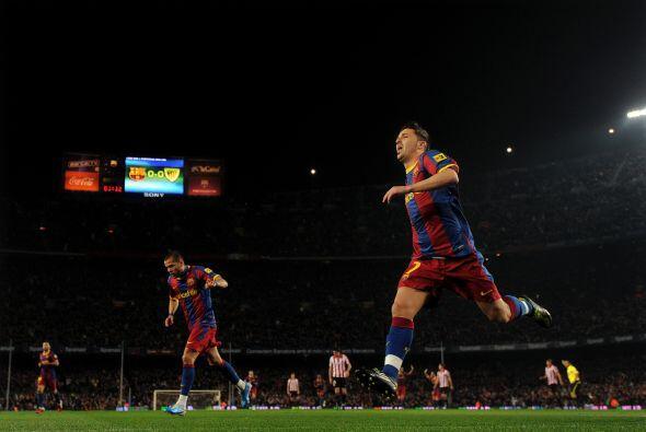 No pasó mucho para que el Barça se pusiera en ventaja.