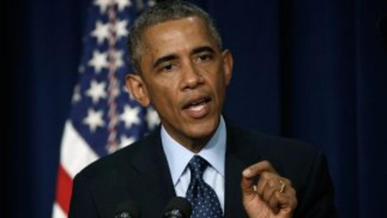 Obama habló al final de una reunión con altos funcionarios de la Casa Bl...