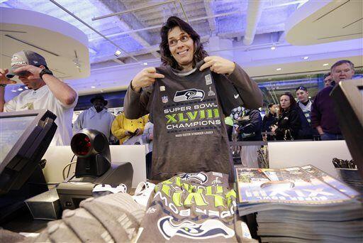La mercancía del campeonato de Seattle voló (AP-NFL).
