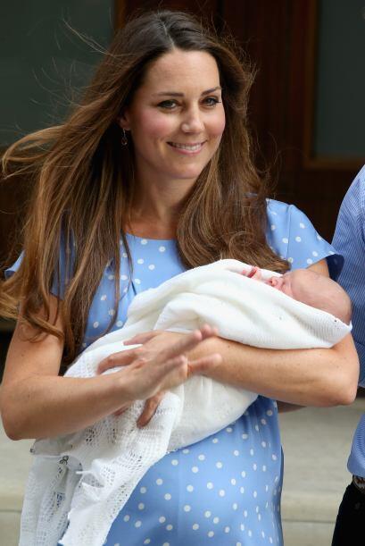 A unos día de haber dado a luz, Kate lucía radiante.