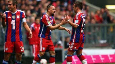 Franck Ribery y Mario Götze anotaron los goles del conjunto de Munich.