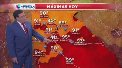 Atlanta registra altas temperaturas este lunes