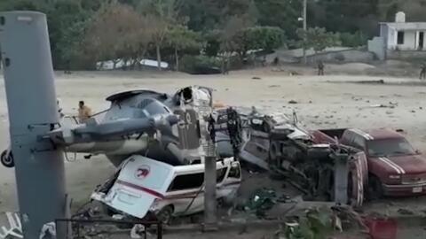 El helicóptero de la Secretaría de la Defensa Nacional de...