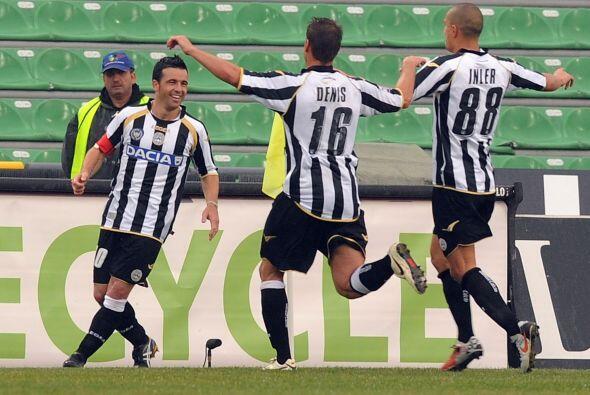Udinese sacó la mejor parte y con goles de Benatia y Antonio Di Natale s...