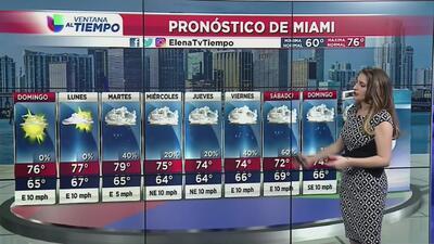 Las temperaturas continuarán por encima de lo normal durante este domingo en Miami