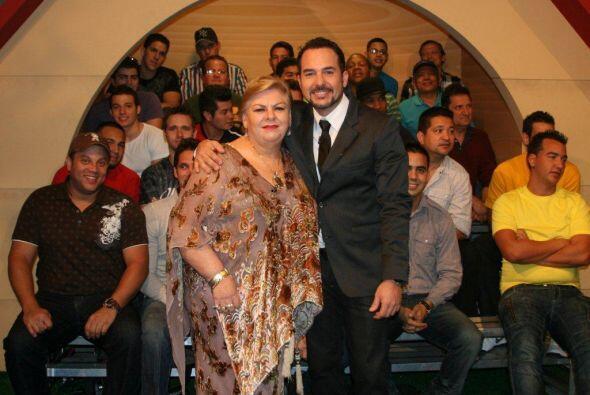 Carlos Calderón disfrutó de la visita de Paquita.