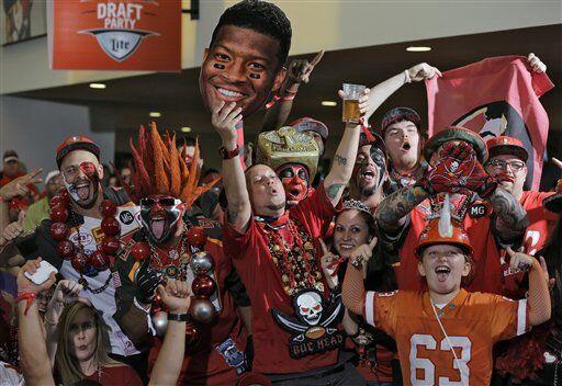 Así celebró la fanaticada de los 'Bucs' (AP-NFL).