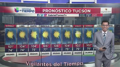 Más y más calor para Arizona este domingo