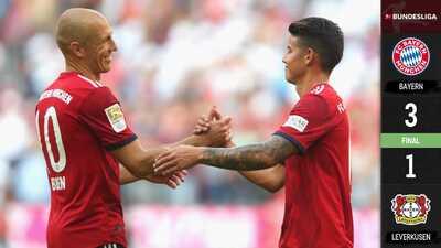 Bayern Múnich no perdona y se hace del liderato de la Bundesliga en solitario