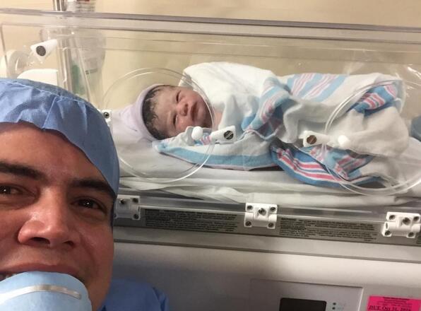 Orlando Segura con Baby Joshua
