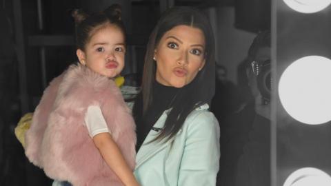Ana Patricia con su hija Giulietta el 8 de enero de 2018, cuando se anun...